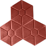 Phan lâm Anh - block - brick - Gạch 3 lá lục giác đỏ
