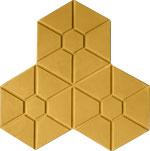 Phan lâm Anh - block - brick - Gạch 3 lá lục giác vàng