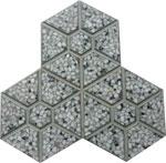 Phan lâm Anh - block - brick - Gạch 3 lá lục giác xám