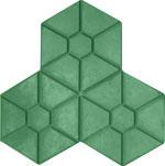 Phan lâm Anh - block - brick - Gạch 3 lá lục giác xanh